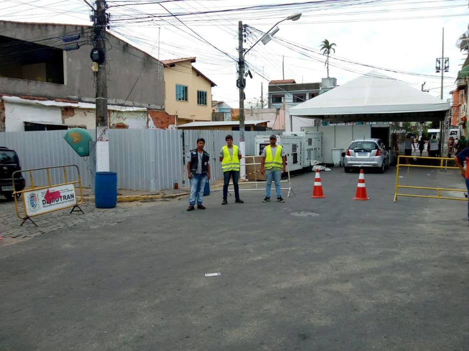 Fechamento de ruas durante o carnaval