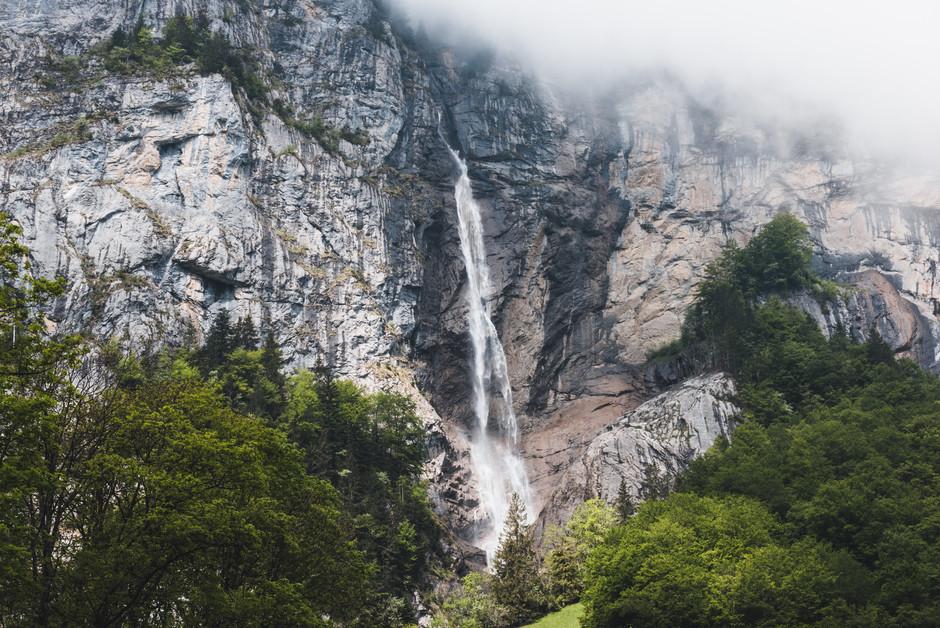 Waterfall, Lauterbrunnen, Switzerland