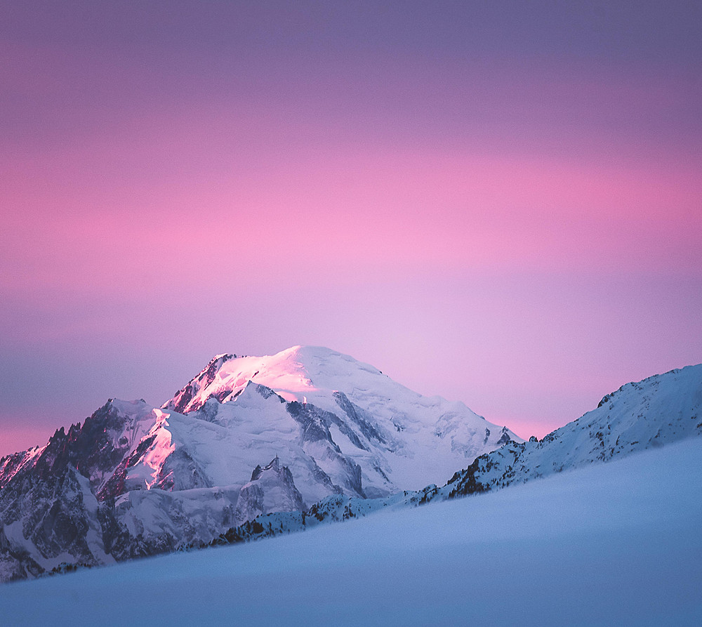 Mont Blanc against pink sky