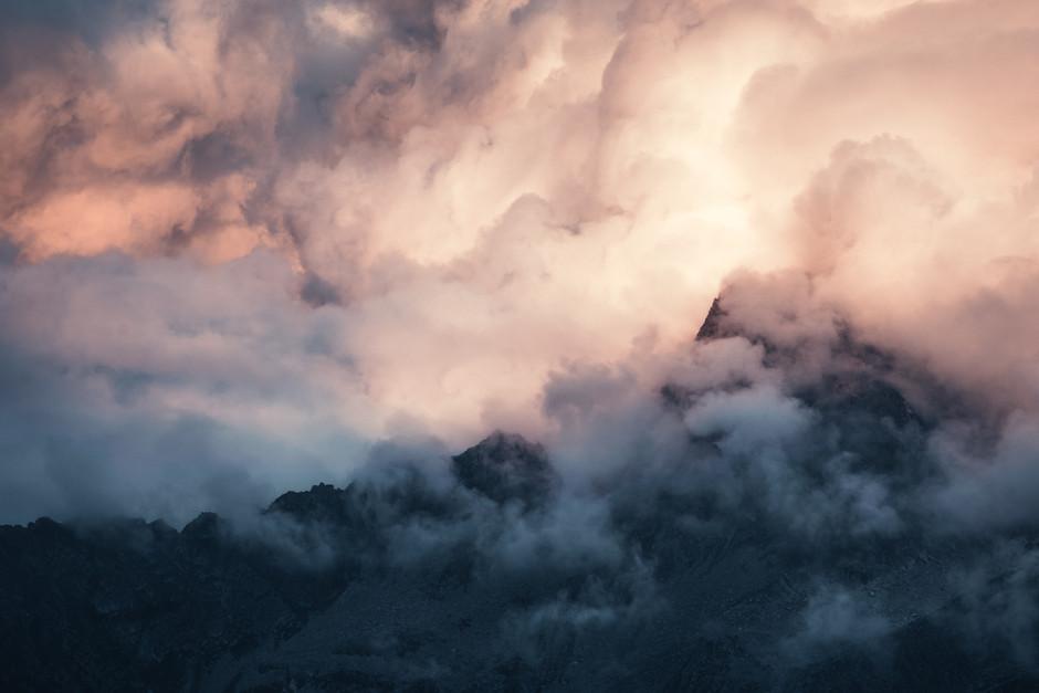 Clouds over Massif du Mont Blanc