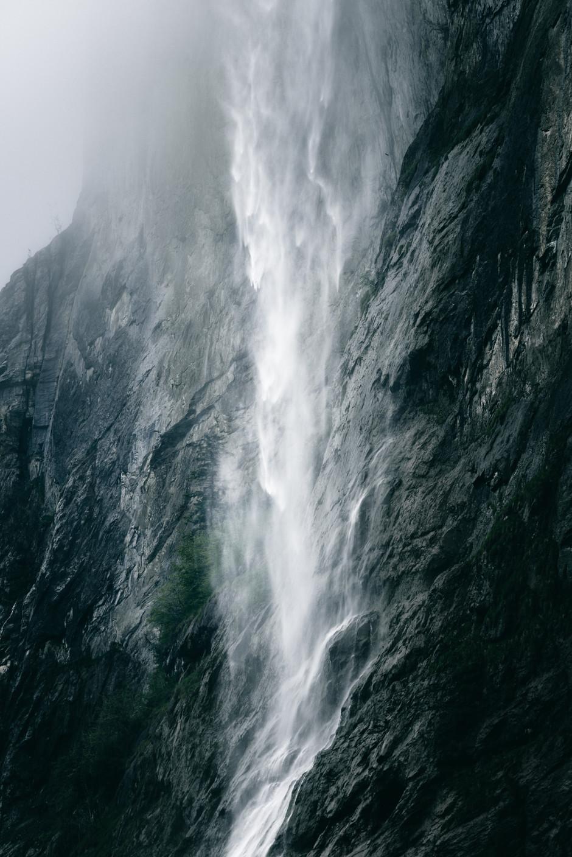 Green Waterfall, Lauterbrunnen, Switzerland