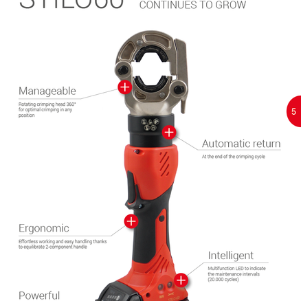 Stilo60 battery operated hydraulic crimping tool