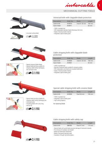 1000V VDE | Kábelkések | Cuţite | Nože | Noži