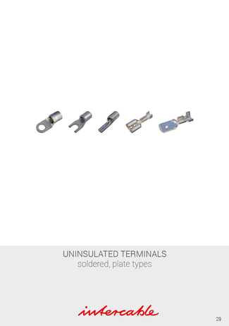DIN46234 ... Szigeteletlen lemezes, forrasztott kábelsaruk   Papuci neizolati roluiti, fise plate   Neizolované lisovacie typy, spájkovacie typy   Neizolirani kabelski kontakti, kontakti za spajkanje