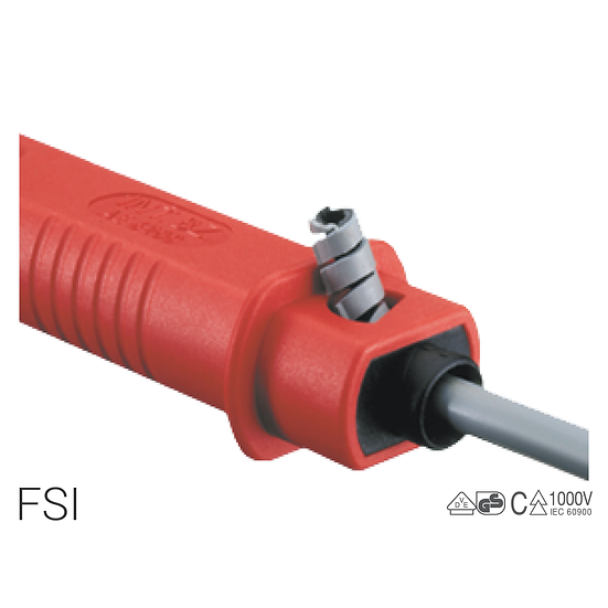 FSI - Insulated wire stripper for single pole cables from 2.5 to 10 mm²