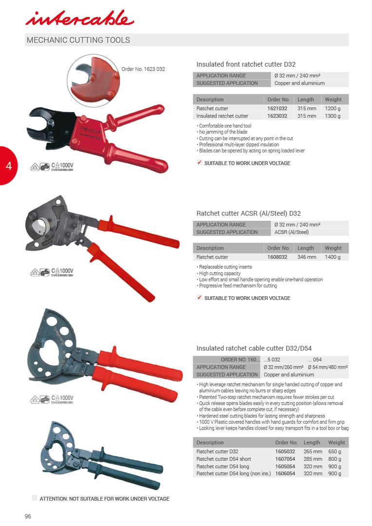 Mechanikus kábelvágó-szerszámok  Scule de taiat mecanice   Mechanické strihacie náradie   Mehansko orodje za rezanje