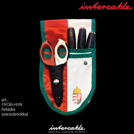 Intercable 19136-HUN - övtáska professzionális villanyszerelő szerszámokkal