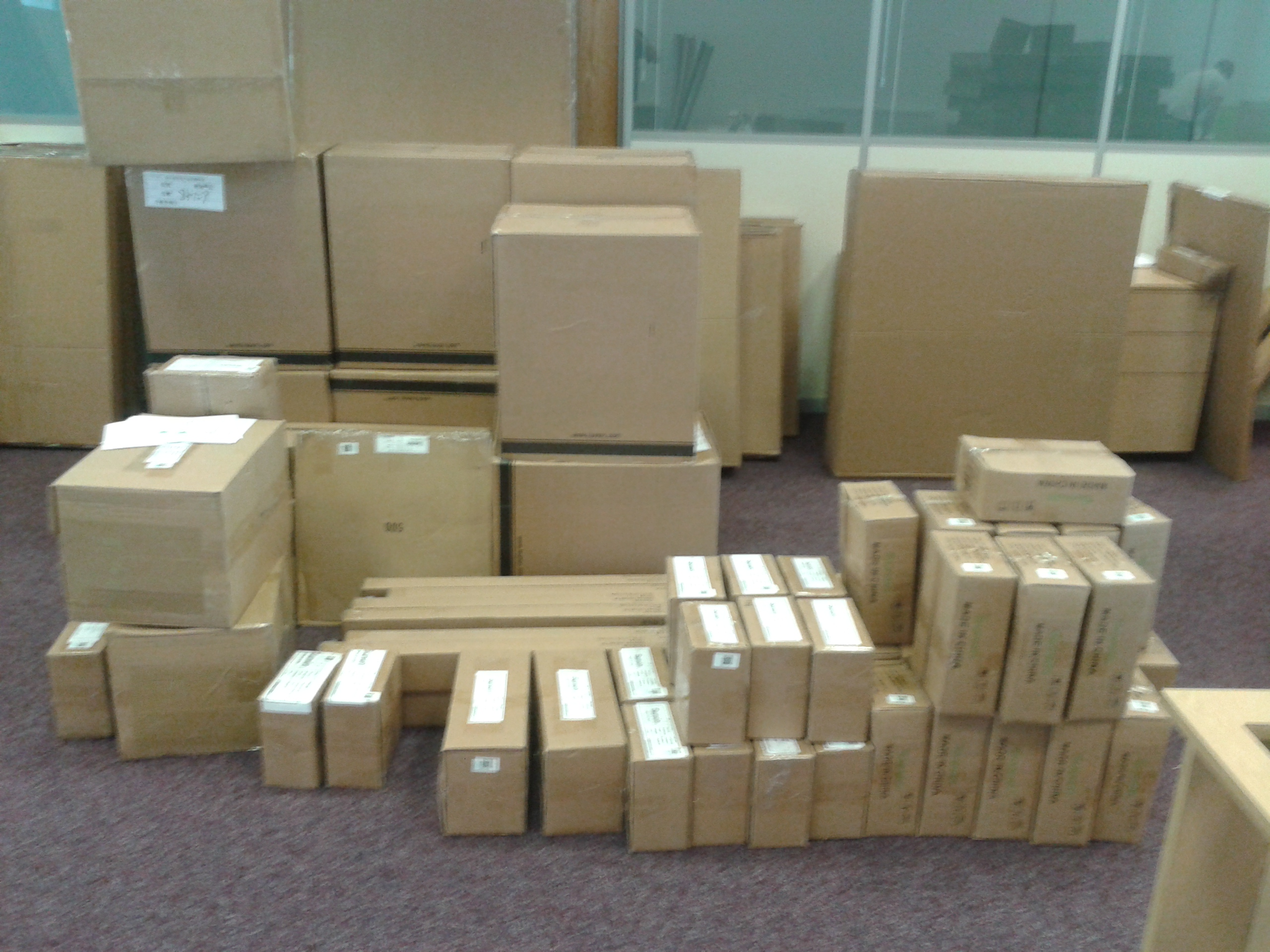 Flat pack office builders