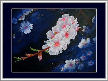Almond Blossoms in the Moonlight -