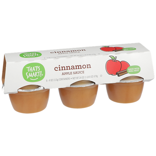 That's Smart! Cinnamon Apple Sauce 6-4 oz Containers