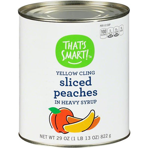 That's Smart! Sliced Yellow Cling Peaches in Heavy Syrup