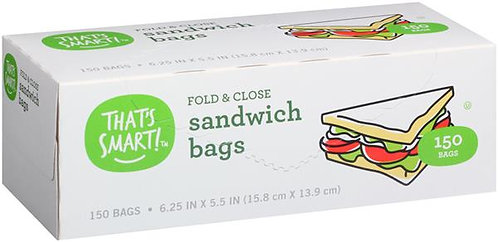 That's Smart! Fold & Close Sandwich Bags