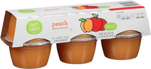 That's Smart! Peach Applesauce 6 Pk