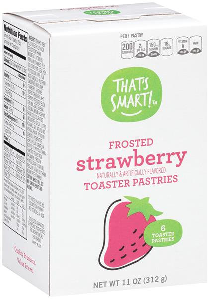That's Smart! Frosted Strawberry Toaster Pastries 6Ct