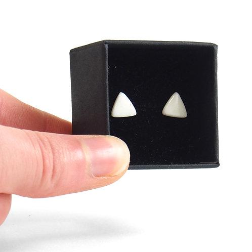 Puces d'oreilles - Triangle - Blanc