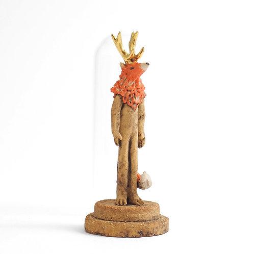 Cloche Miniature - Renard à cornes
