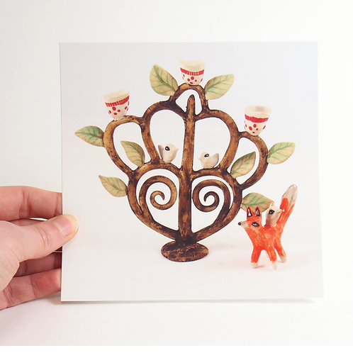 Carte Postale - Arbre de Vie et Renard