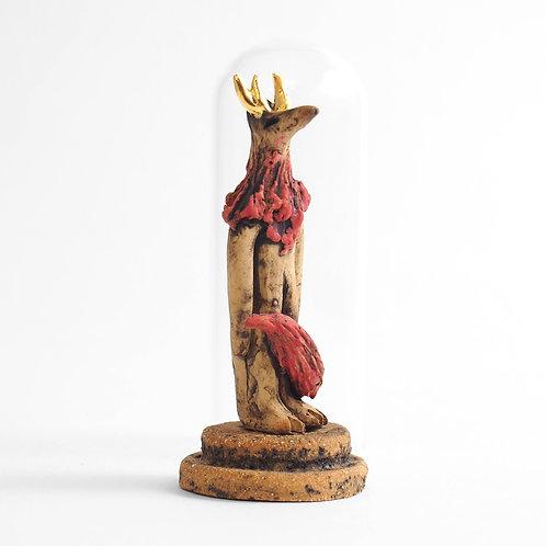 Cloche Miniature - Loup à cornes