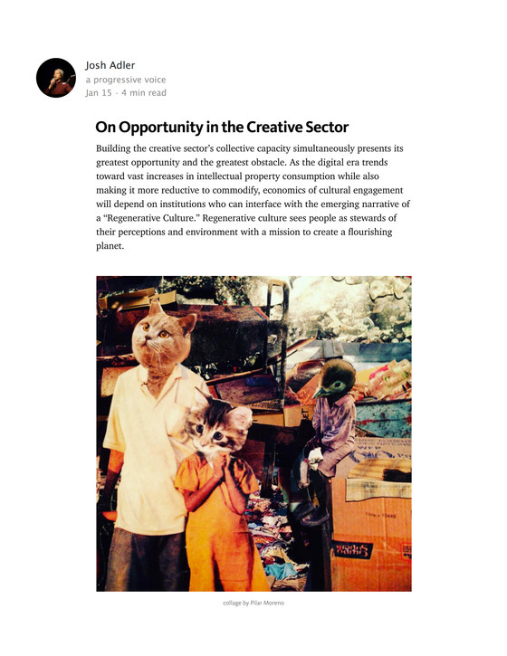 On Opportunity in the Creative Sector