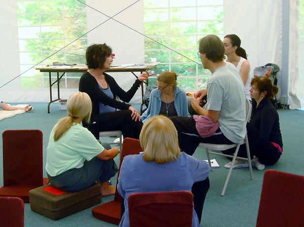 Emilie teaches at Shantigar XIII 2010.JP