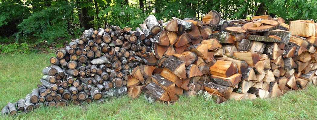 woodpile by Zen master, August 14, 2018