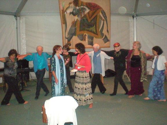 Shantigar 2010 celebration in tent Susan