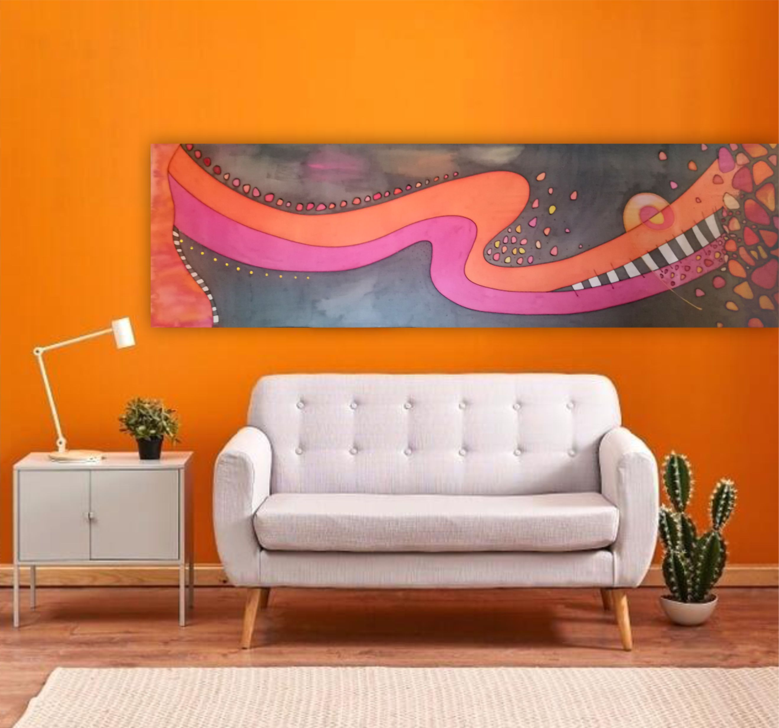 Narancs-pink szoba