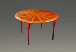 Cherry Sunburst Table