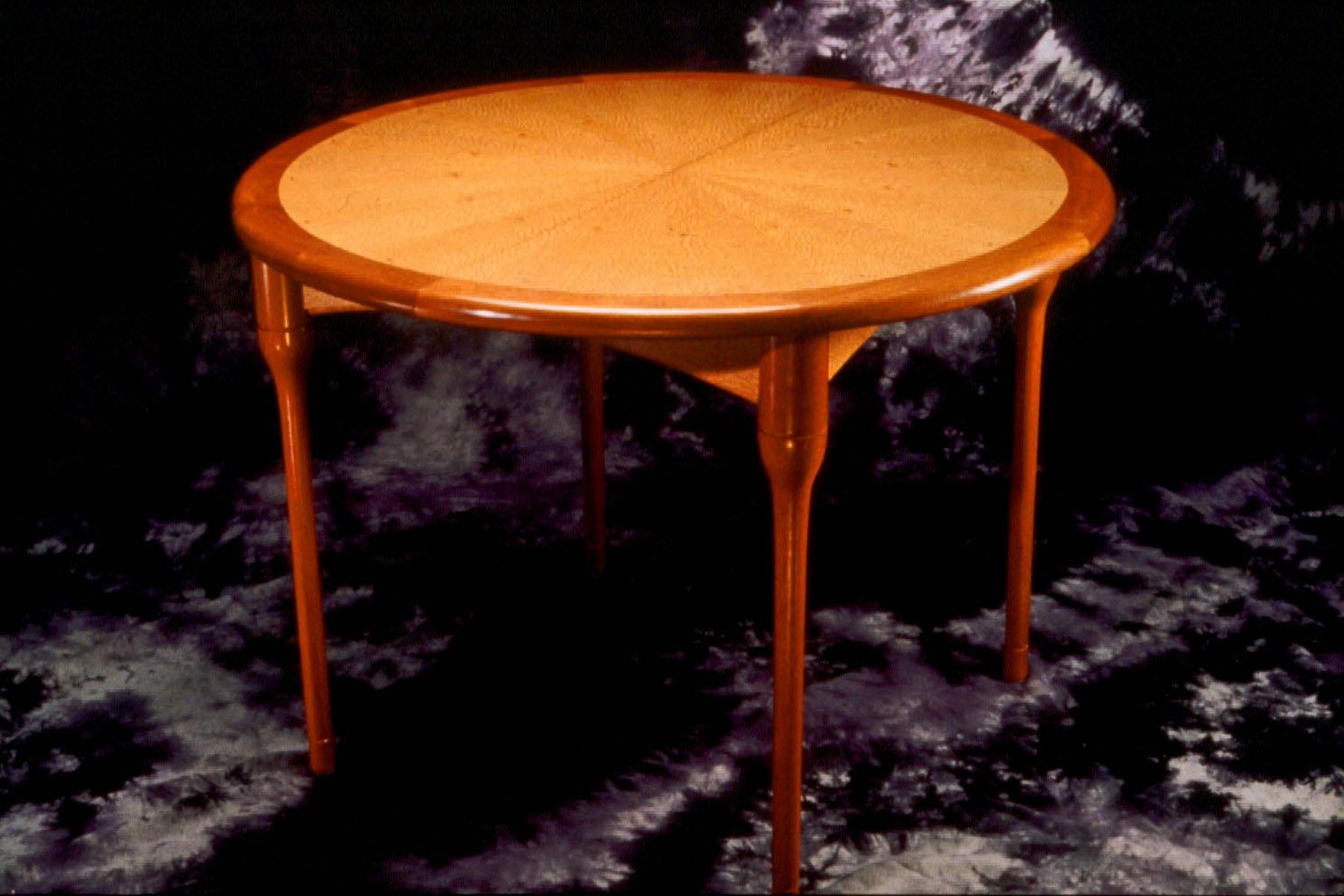 Lacewood & Mahogany Table