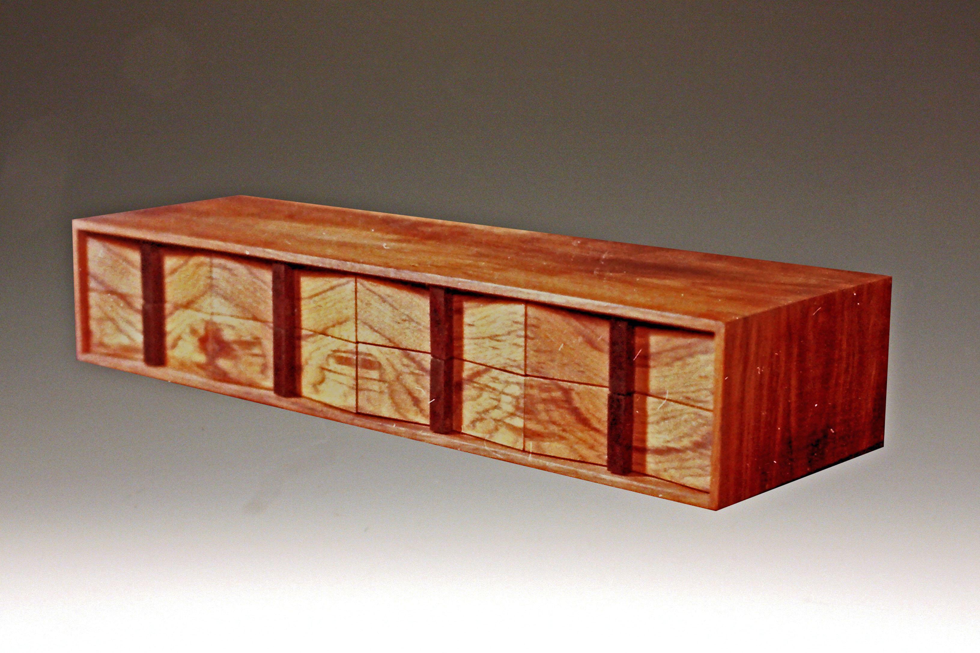 8 Drawer Teak Jewelry Box