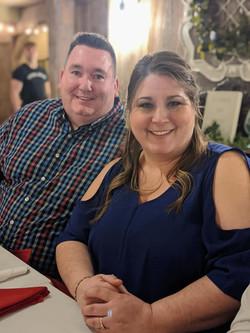 Pastor Scott & Rachel at the dinner