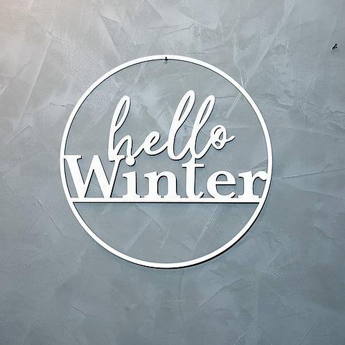 Hello Winter Metall Dekoring