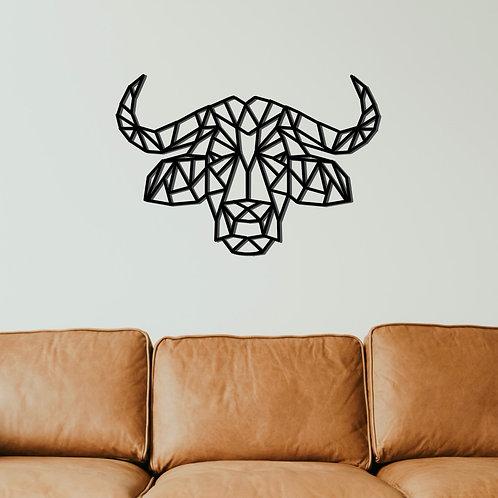 Wasserbüffel Metall Wandbild