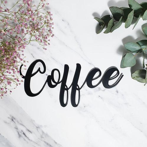 Coffee Metall Wandbild
