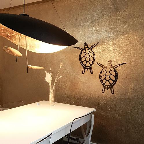 Schildkröte Metall Wandbild