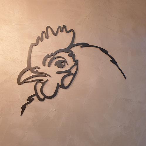 Huhn Annelise Metall Wandbild