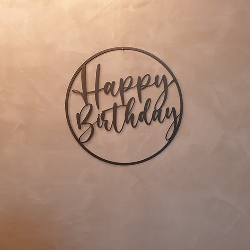 Happy Birthday Metall Dekoring