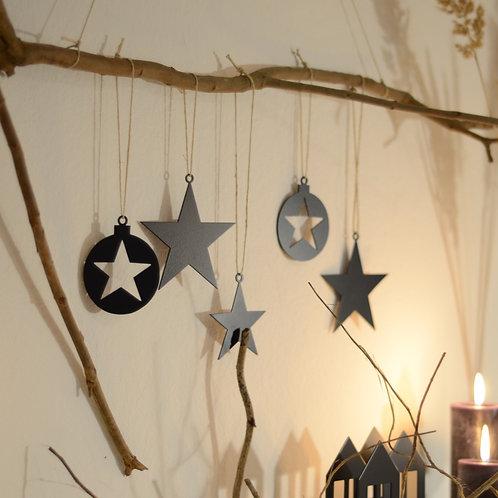 2er Set Sterne 12 cm
