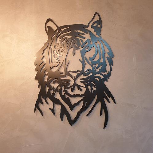 Tiger Metall Wanddeko