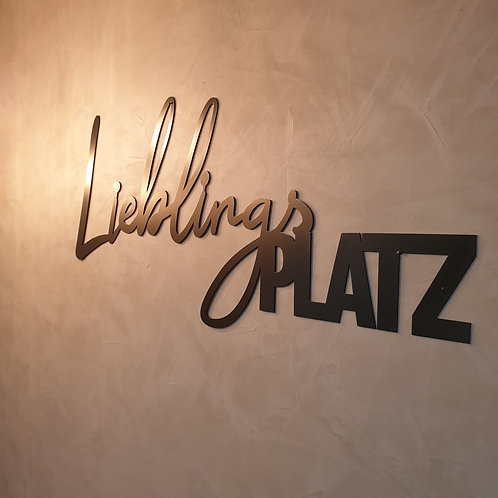 LieblingsPlatz Metall Wanddeko