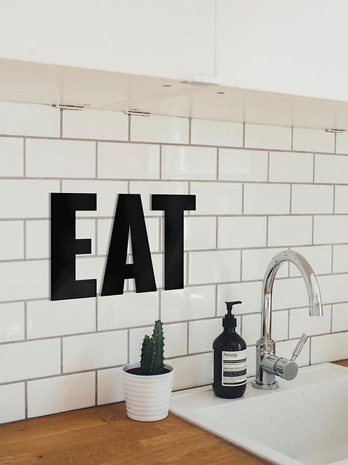 EAT Metall Wandbild