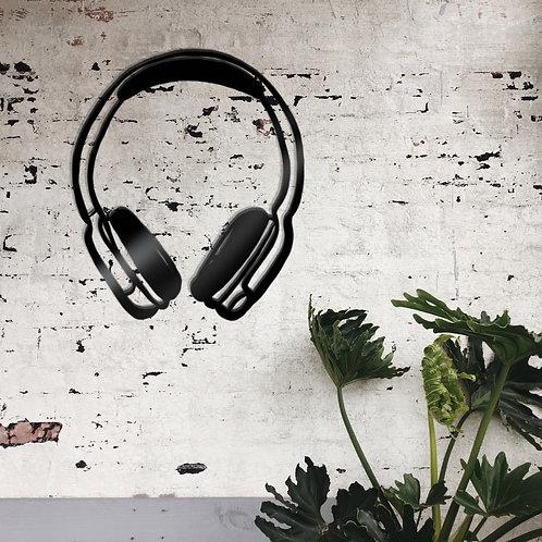 Kopfhörer Metall Wandbild