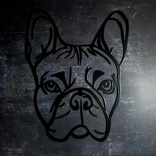 Bulldogge Metall Wanddeko