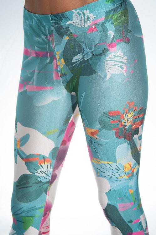 Pink Blue Flower Legging