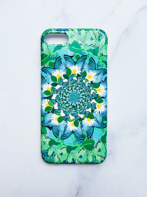 Blue and Green Butterfly iPhone Case