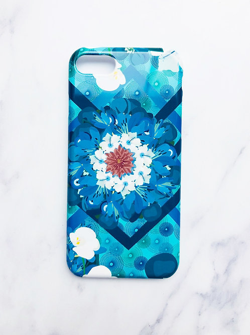 Greek Eye, Red, White and Blue Flower iPhone Case
