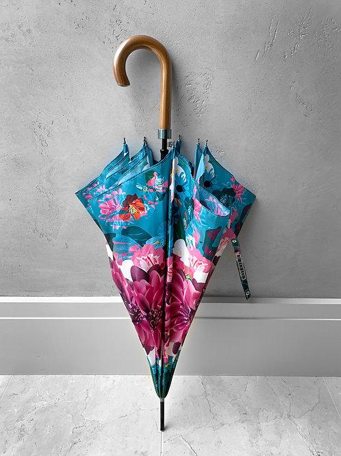 Pink Flower City Umbrella