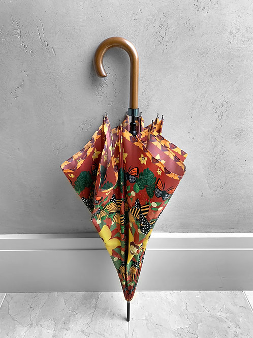 Orange and Red Butterfly City Umbrella