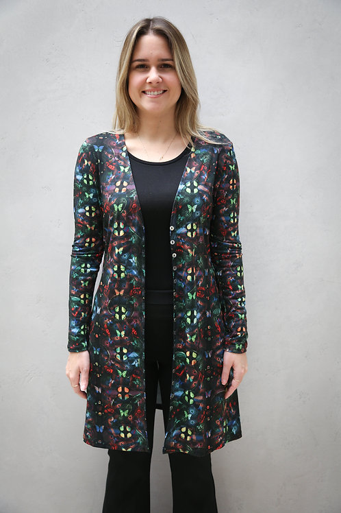 Short Mixed Butterfly Cardigan