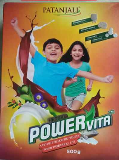 Patanjali Ayurveda Herbal Powervita Powder Refill pack, 500gms